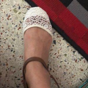 Shoes - White lace shoes